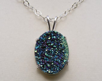 Drusy Sterling Silver Necklace