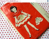 ON SALE Vintage Betsy McCalls Doll Apron Pattern  RARE Original Tiny Doll Pattern Uncut