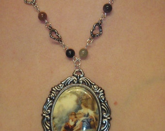 Eternal Love, Romeo and Juliet cameo necklace
