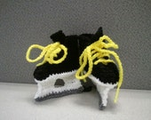 Boston Bruins, Playoff Hockey booties,  Bruins baby shower booties, Hawkeye Booties, Iowa Hawkeyes