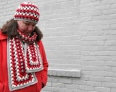 Striscia - a crochet Granny Stripe Hat and Scarf pattern