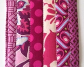 Coasters Quilted Made with Purple Passion and Power Pinks