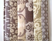 Coasters Quilted Made with Taupe, Golden and Chocolate Browns