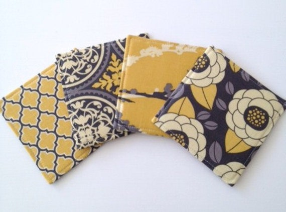 Coasters  Mix and Match Grey and Yellows
