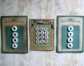 3 Vintage Baby Buttons on Sweet Cards