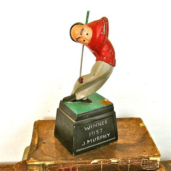 vintage golf trophy