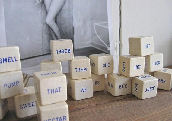 21 vintage word dice