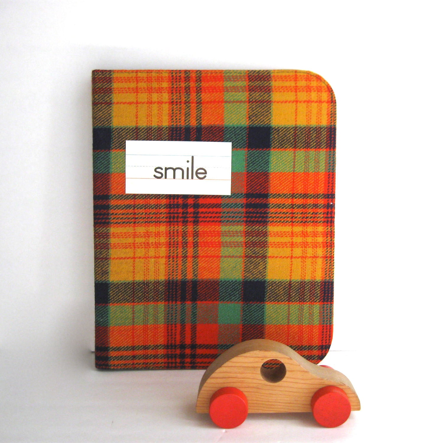 1970's Plaid School Binder By Anythinggoeshere On Etsy