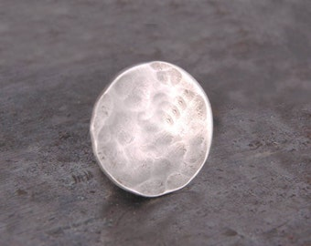 Sterling Silver Tie Tack,  Hammered Metal Lapel Pin,  Birthday Gifts for Men Best Man