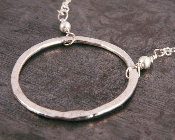 Pendant Necklace Hammered Silver Ring Sterling Infinity Jewelry Gifts for Her Under 35 Birthday Holiday