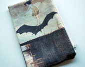 Fabric Zip Pouch - The Witches Sister on Her Bat