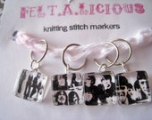 The Beatles Black and White Knitting Stitch Markers (Set of 4)