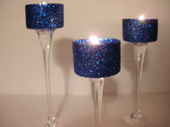 Blue Wedding Decorations: Wedding Centerpieces Navy Blue Simple Elegance Gel 3 Piece By
