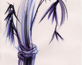 Rhythm and Grace - Original watercolor Zen bamboo wash painting