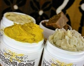SAMPLES African Black Soap Shea Butter Cocoa Butter 4 Piece Sample and Gift Set FREE SHIPPING