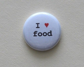 I Heart Food pinback button