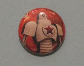 Soviet Robot pinback button