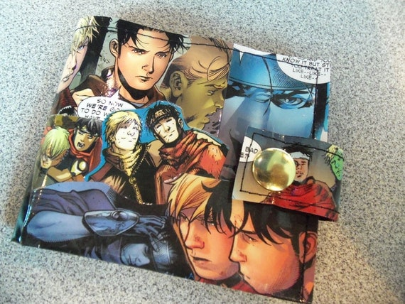 Comic Wallet - Young Avengers Wiccan/Hulkling CUSTOM FOR MARISSA