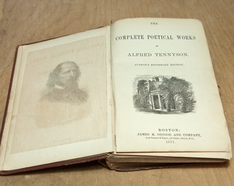 Tennyson - Complete illustrated Poems - Antique hardcover edition 1871