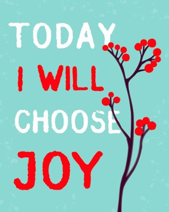 Choose Joy - Mint and Red Berry -8x10 Print