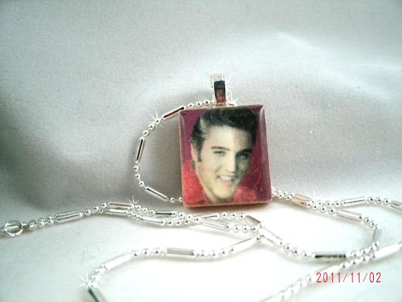 Elvis Scrabble Tile Necklace