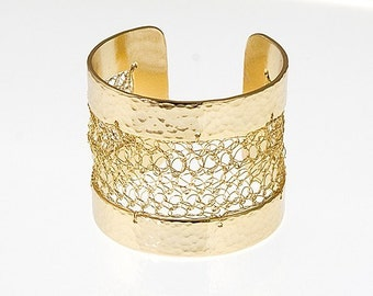 Crocheted Gold Cuff