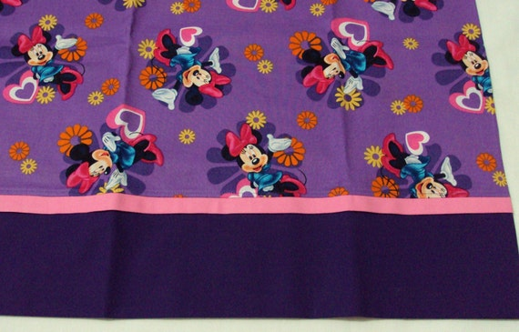 Minnie Mouse purple Pillowcase  CUTE  little girl standard size purple and pink