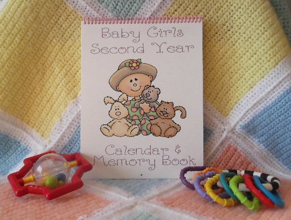 June Calendar Girl Book : Second year baby calendar and memory book girl