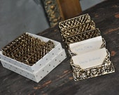VINTAGE EMBELLISHED PLACE CARDHOLDERS   QTY 6          FREE SHIPPING