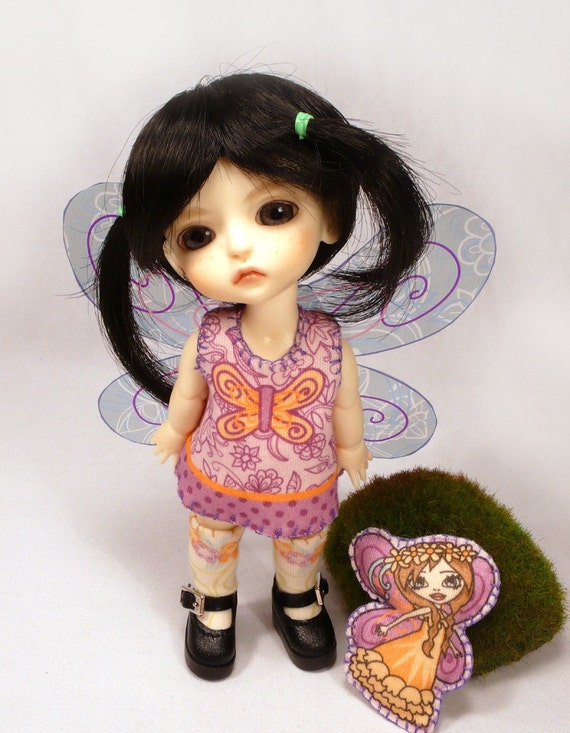 Butterfly Fairy Kit for Tiny BJD Doll Clothing Lati Yellow Pukifee