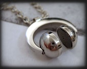 FOR The LOVE Of MUSIC, stainless steel headphone necklace