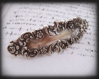 VICTORIAN BARRETTE in antique silver