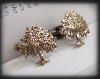 TREE OF LIFE, solid brass cufflinks