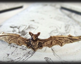 VICTORIAN BAT. antiqued brass headband