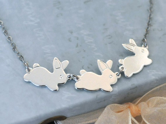 The tale of Peter Rabbit - silver bunny necklace