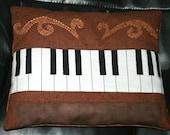 piano pillow plush