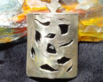Dynamic Big Silver Necklace
