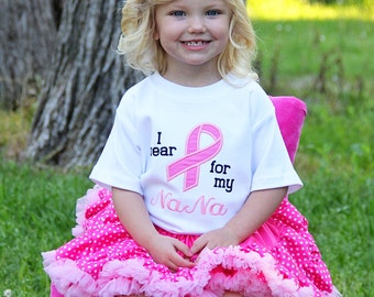I Wear Pink, I wear Purple, I wear Green Shirt or Onesie, Cancer Awareness, Done in any color