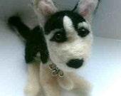 Needle Felted Custom Pet Pawtrait  - Dog, Puppy Portraits