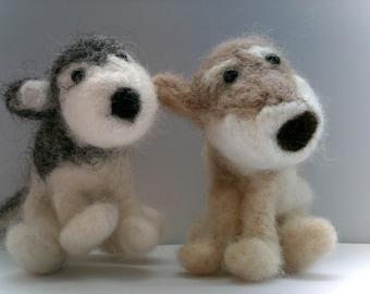 Personalised Needle Felted Custom OOAK Terrier,  Husky, Bichon, Dog Character - Pet Pawtrait