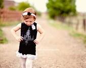 Little Girls Dress - Black Chandelier Tank Dress