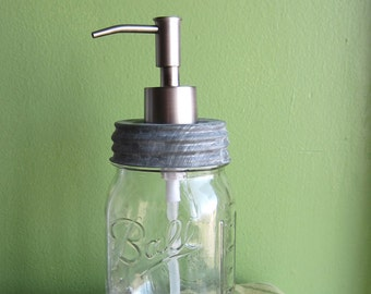 Mason Ball Pint Jar Upcycled Soap Dispenser