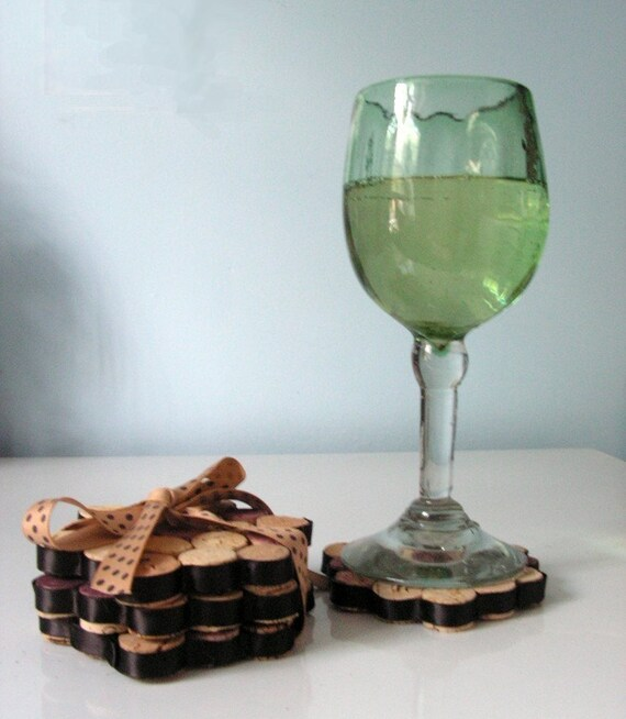Things Made With Corks: Items Similar To Upcycled Coasters