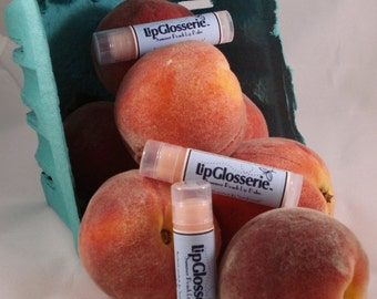Peach Lip Balm - Vegan - Handmade - Free Shipping