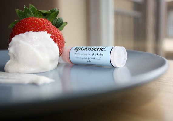 Strawberry Swirl - Vegan Lip Balm - Free Shipping - Handmade