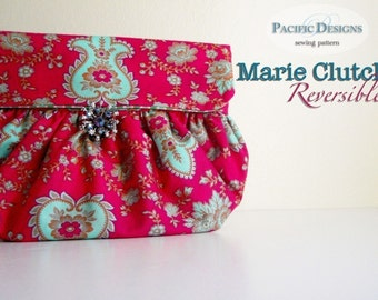 Handbag sewing pattern - Marie Reversible Clutch PDF Pattern