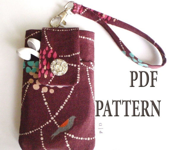 SALE 3 Designs for iPhone iPod Case PDF Sewing Pattern