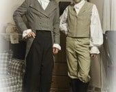 Mens Regency Swordman Pirate  Costume Shirt/Medium made to order