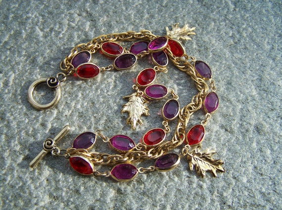 Ruby and Amethyst Dazzle Bracelet