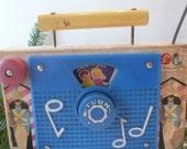 Vintage Fisher Price TV Radio Toy 1950s